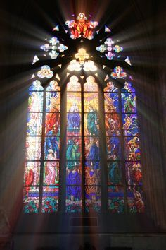 stained glass picture with light