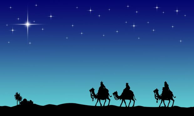 Three wisemans and the star of Bethlehem
