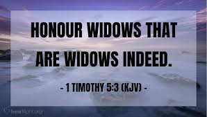honour widows