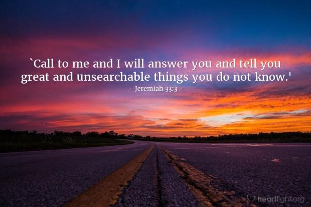 jeremiah 33 3