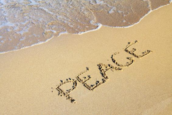 peace on beach