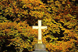 fall foliage cross